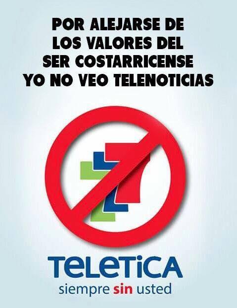 Campaña en contra de Teletica por reportajes.