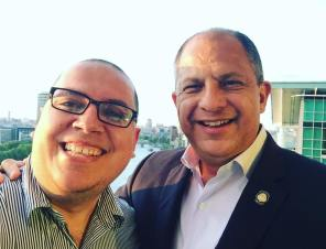 With President Luis Guillermo Solis